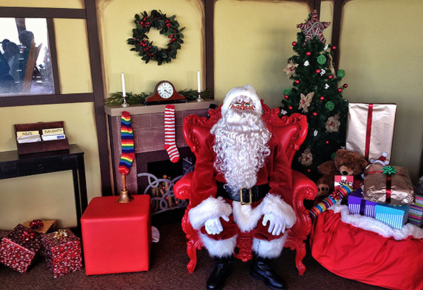 Santa waiting to hear what you want for Christmas. Come along to the Sydney Tower Eye to meet Santa and get your photos taken as well.