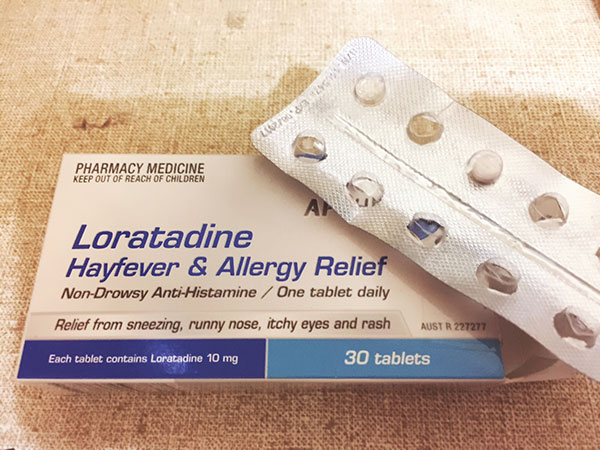Loratadine or Lorraine as I like to call it. I have nicknamed this hay fever medicine to make it easier to remember.