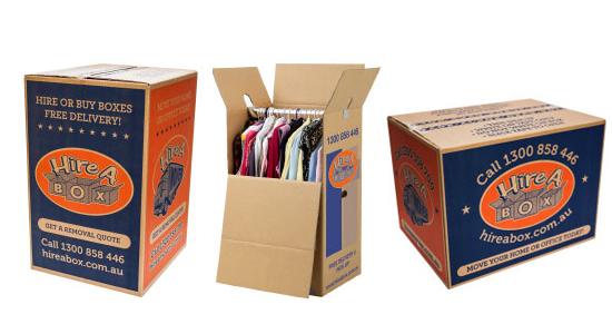 Different types of boxes from Hire A Box