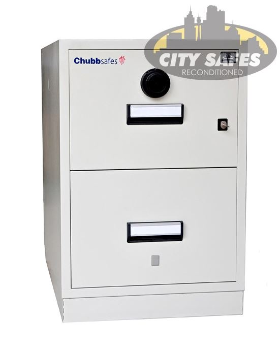 CHUBB-SURVIVAFILE-SFIL2D-2H City Safes also have fire proof filing cabinets available.