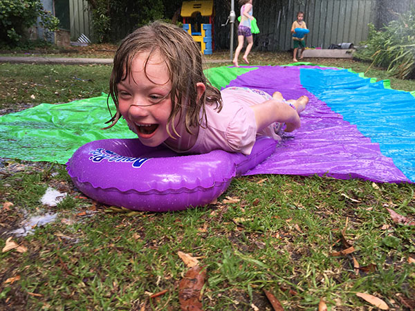 As you can see they had a blast using the Triple Superslide from Clark Rubber and cannot wait for a nice hot day to do it again.