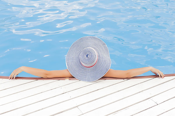 This is me... well not really but I am pretending. I am spending some much needed time in the pool.