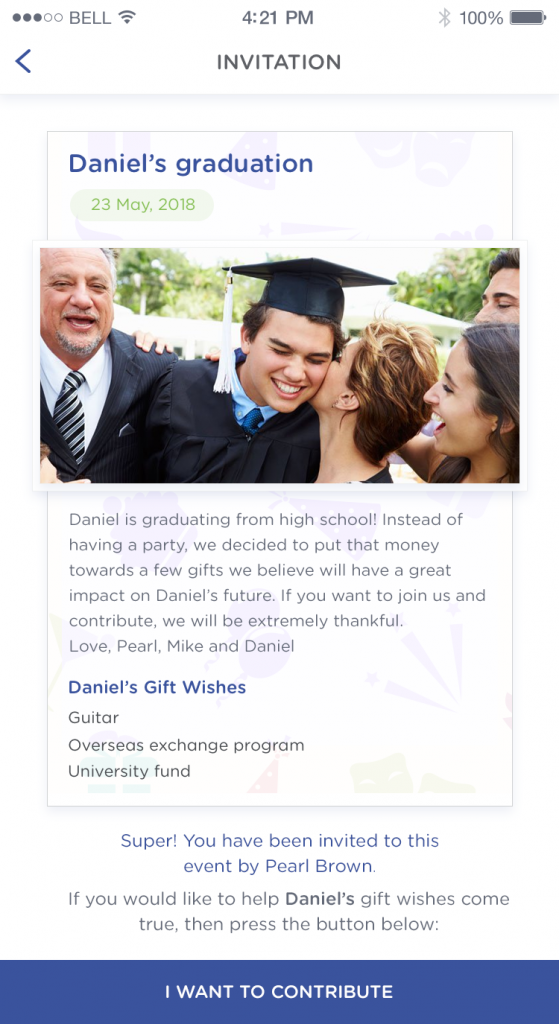 Daniel is saving for some great gifts to celebrate graduating high school. Saving for a guitar, overseas exchange program and university. All great things rather than things that are not needed or wanted.