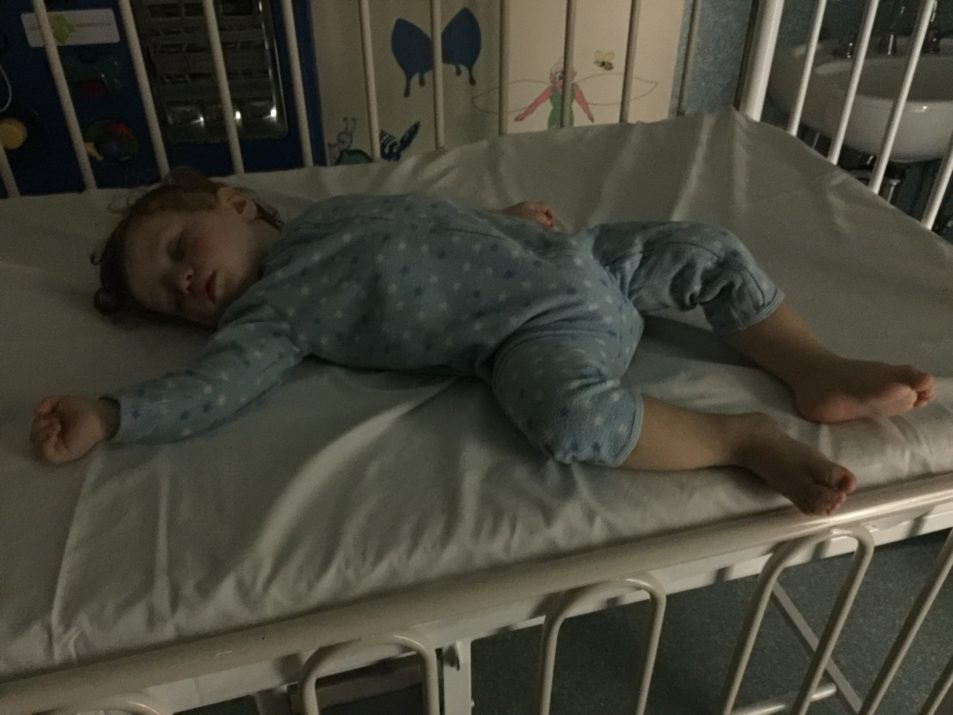 My very tired boy at hospital the other night. He was not very well here and just in pain and exhausted.