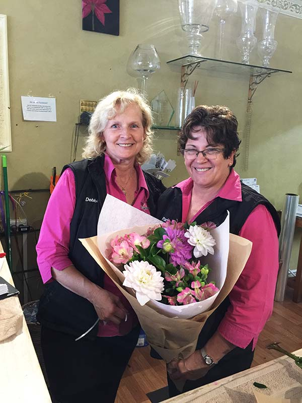 The lovely ladies at Fine Flowers Katoomba. Debbie on left and Pam on the right.