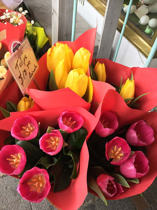 The pretty Tulips on sale.
