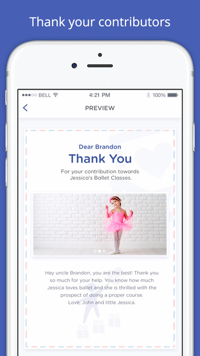 Purposit Thank You Cards - How great is it to send a kind thank you to the person that helped you get your ballet lessons.