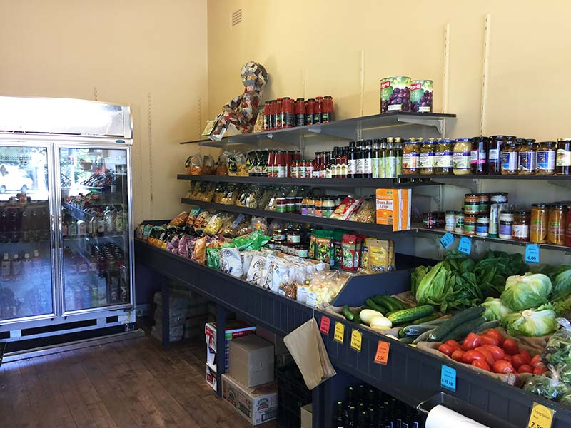 Pasta, sauces and other yummy things available at the Veggie Patch at Blackheath.