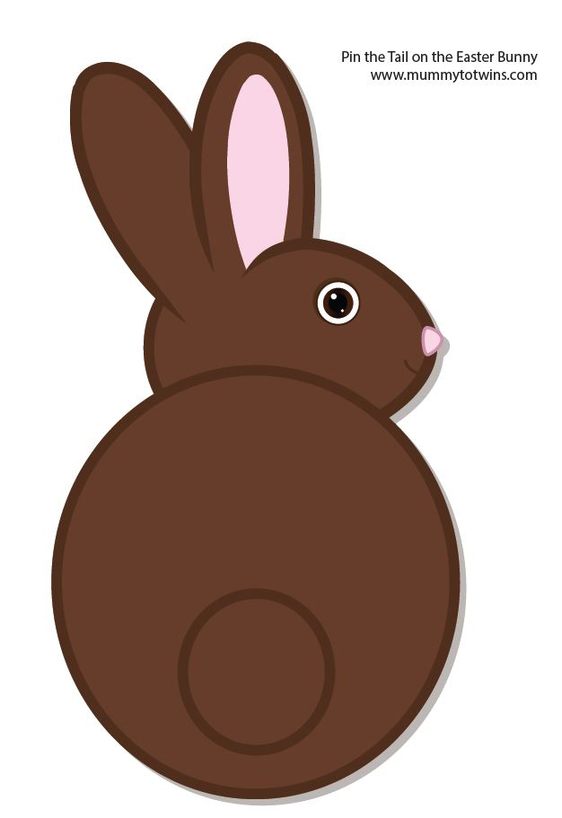 image relating to Pin the Tail on the Bunny Printable named Easter Printables Mummy In the direction of Twins In addition A single