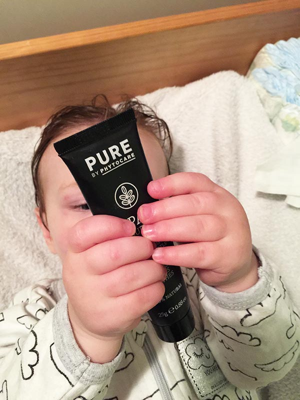 Alexander loved holding onto the Papya Vapour Balm.