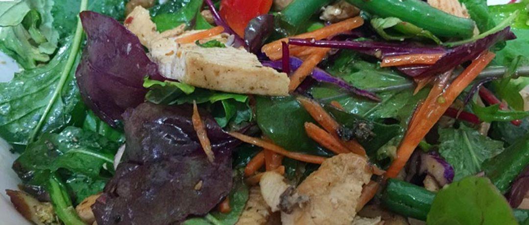 Make Warm Chicken Salad with Veggies