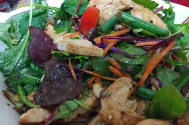 Make Warm Chicken Salad with Veggies