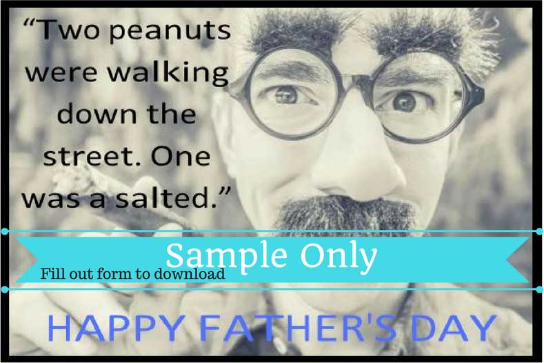 No Father's Day card would be complete without some dad jokes.