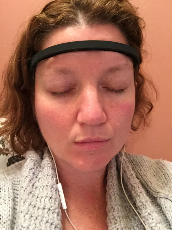 My first mediation session with MUSE The Brain Sensing Headband.