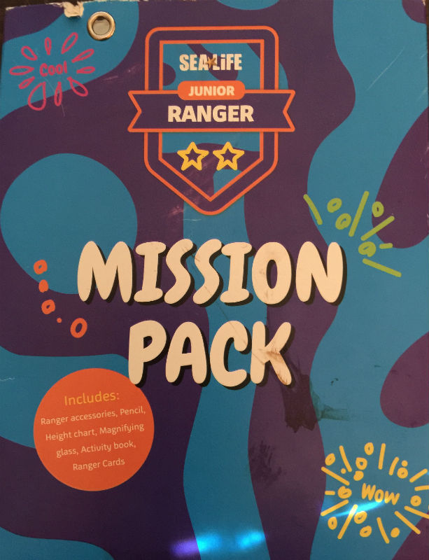 The kids mission pack. Armed with this they raced around to find the animals on their cards and to learn more fun facts about the animals too.