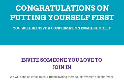 I've signed up to Women's Health Week. Have you?