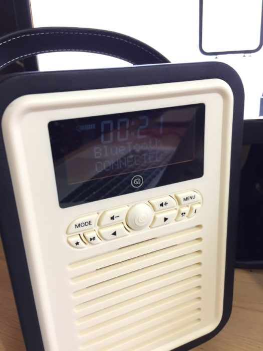Love my new VQ Retro Mini Digital Radio. I'm listening to my podcast while working away at my desk.