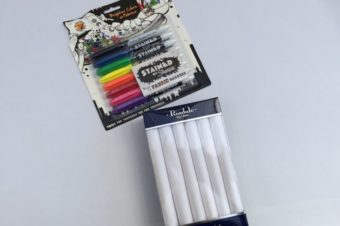 Decorate Handkerchiefs with Stained Sharpies