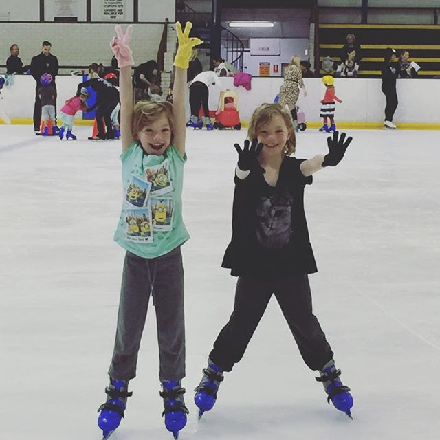 The girls having fun ice skating at Canterbury Olympic Ice Rink. As you can see they had a wonderful time.