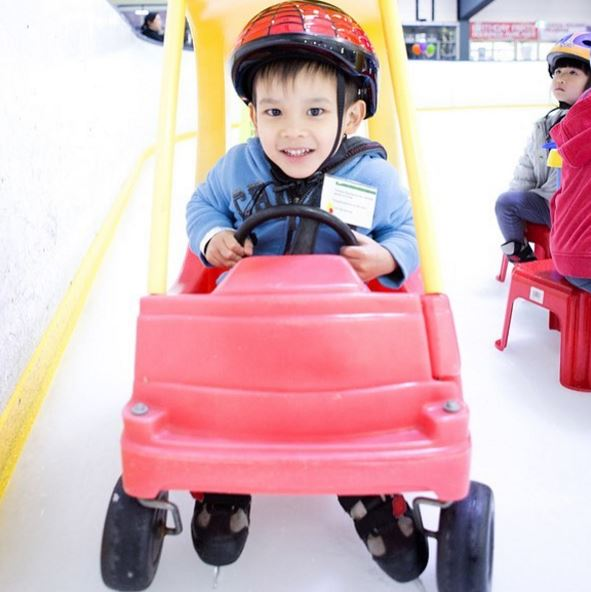 Playgroup learn to skate at Canterbury Olympic Ice Rink. Photo: Canterbury Olympic Ice Rink.
