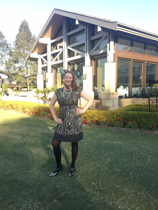 Kay wore her new dress from Glama Mama Maternity to a friends wedding at the Hunter Valley.