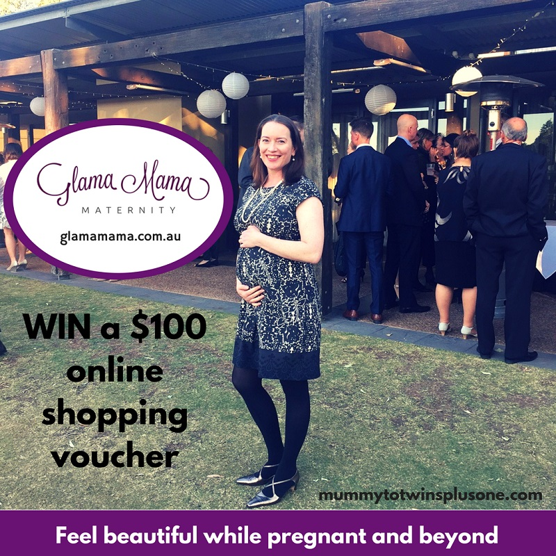 My sister Kay modelling the Giselle Dress from Glama Mama Maternity. You can win a $100 voucher to use online to get yourself some fab and stylish maternity clothes.