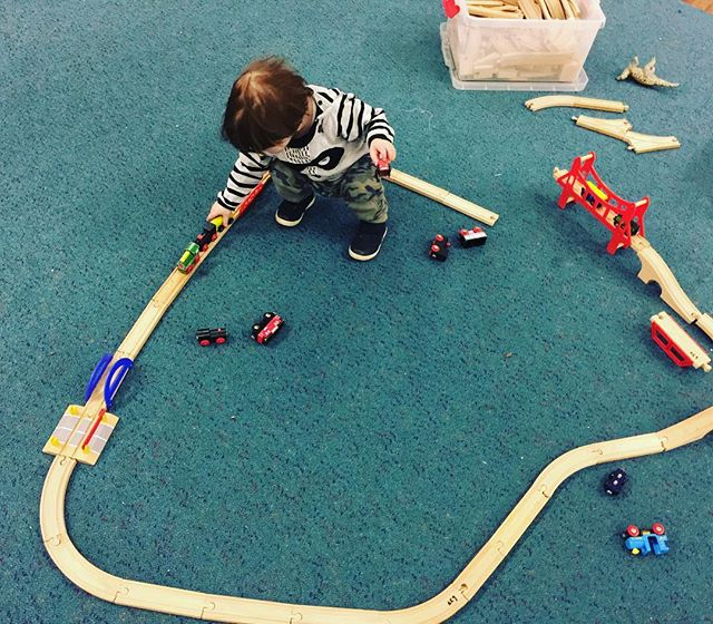 Trains are another huge favourite. Alexander loves putting as many trucks, trains, and cars on the tracks.