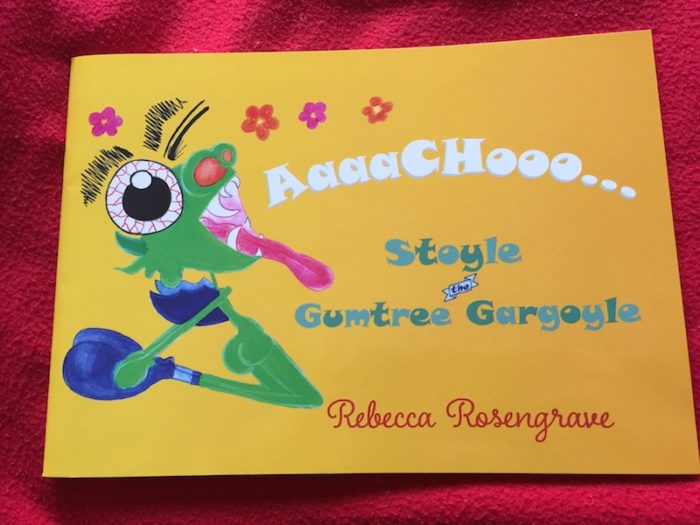 Stoyle the Gumtree Gargoyle. A fab kids book from Rebecca Rosengrave.