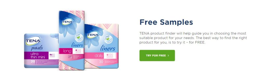Get Free TENA Samples to find out what works best for you.