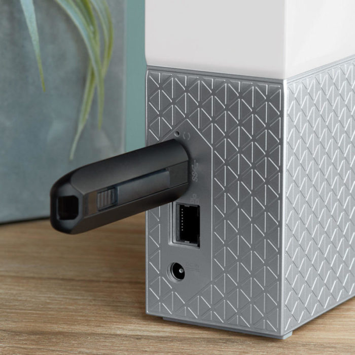 You can add data to the My Cloud Home via a USB drive. Make sure to keep your data safe and sound.