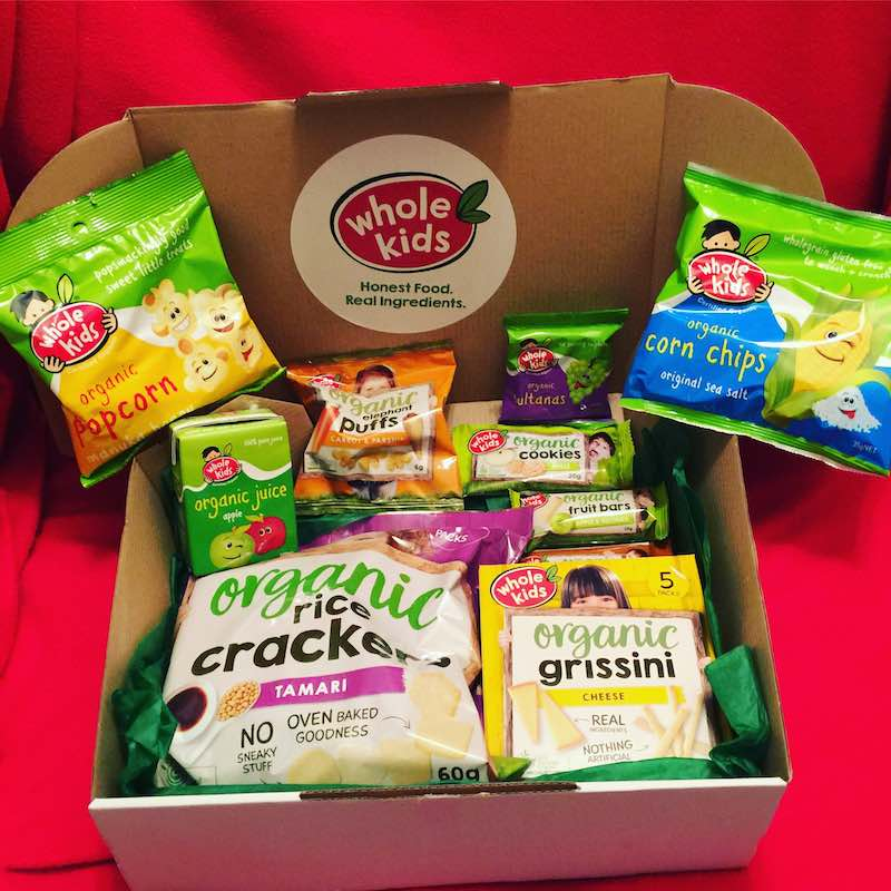 The sample pack that Whole Kids sent us to sample. Everything is so yummy!
