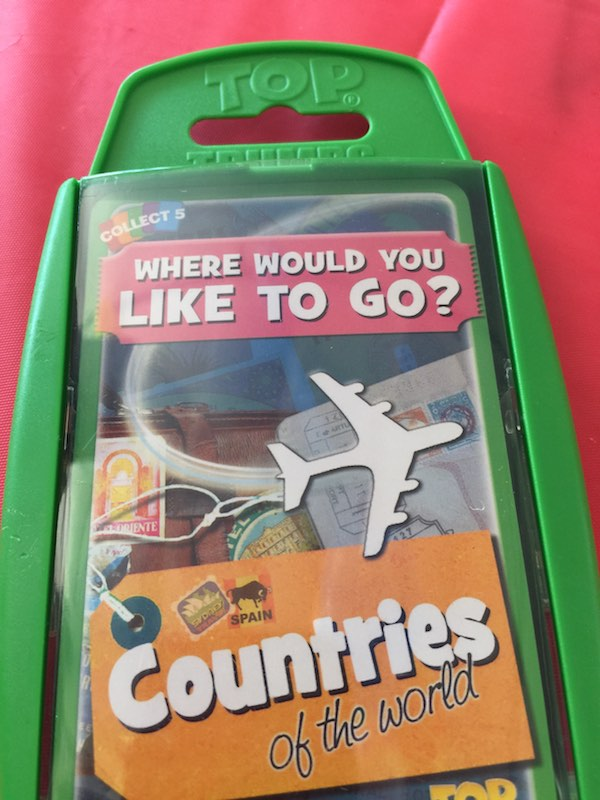 """Top Trumps, """"Where would you like to go"""". Countries of the world."""