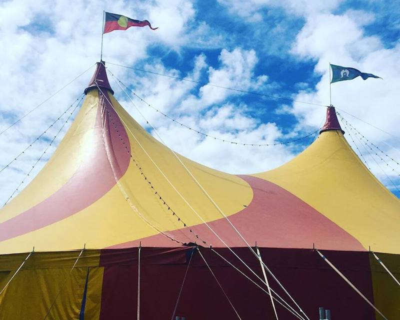 Circus Oz's Big Top Tent.