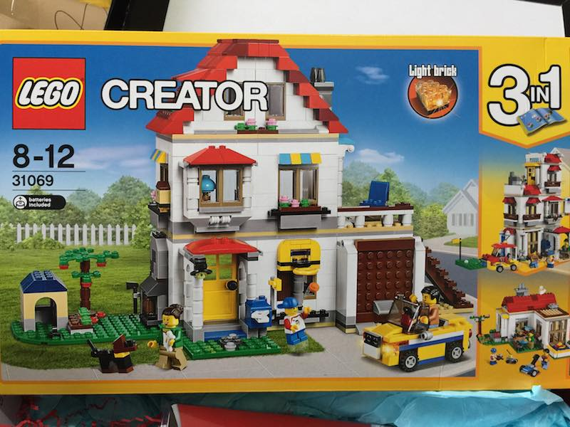 LEGO is such a great tool for kids to learn with and for play. Once they have their house built, they can keep it safe.