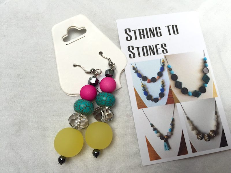 The bright and glamours earrings from String To Stones.