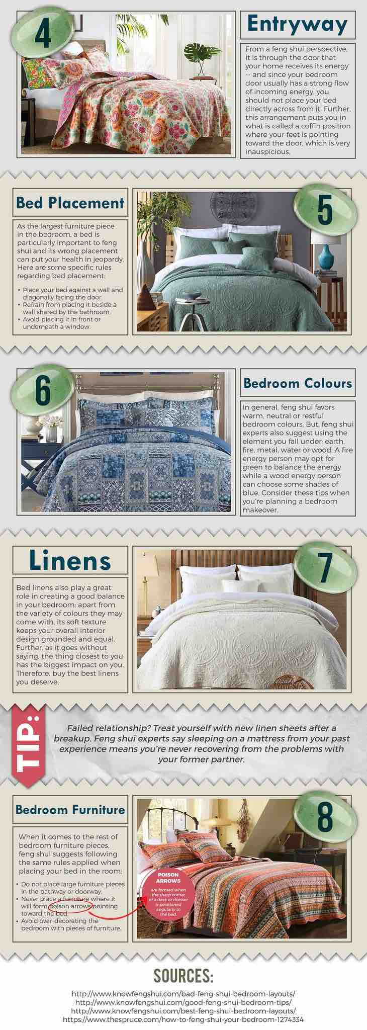 8 tips to help you Feng Shui your bedroom. Image from https://www.macey.store