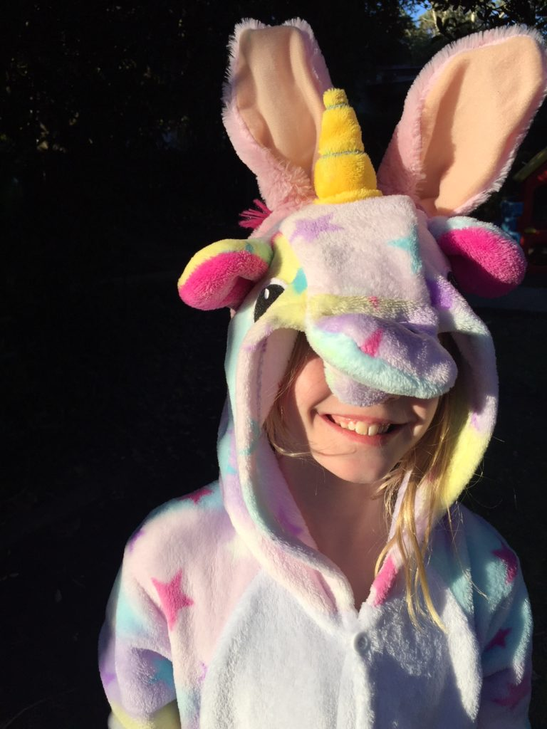 Julia dressed as The Unibunny.