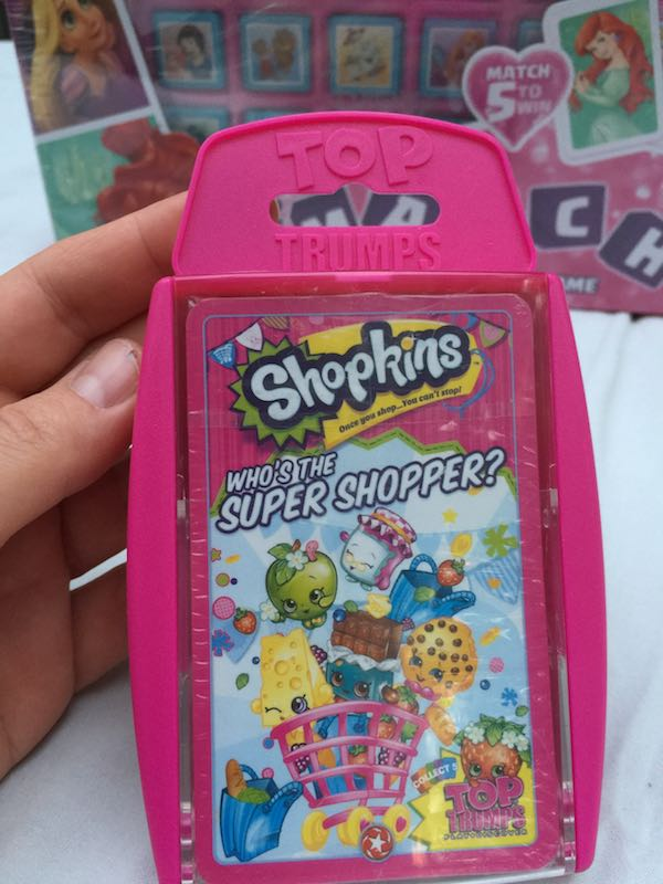 "Shopkins Top Trumps, ""Who's the super shopper?"""