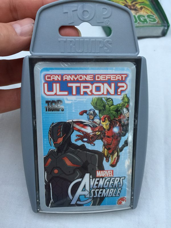 Can anyone defeat Ultron? Marvel Avengers Assemble Top Trumps.