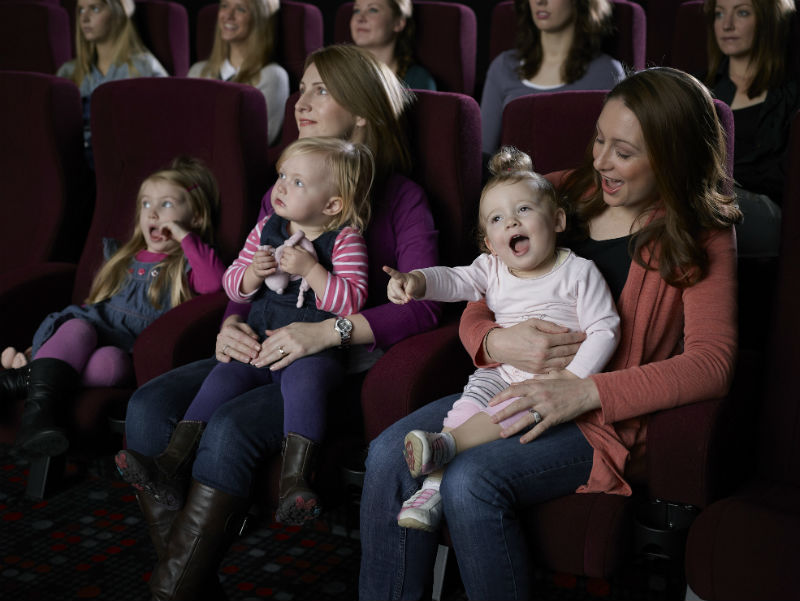 Mums enjoying a fun day out at the movies.