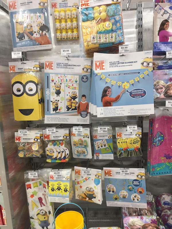 On a recent trip to the shops, I saw all these Minions Party decorations. Thank goodness Alexander was at childcare at the time. I do think we need to organise a Minions party for him next year, well that is if he is still so obsessed!