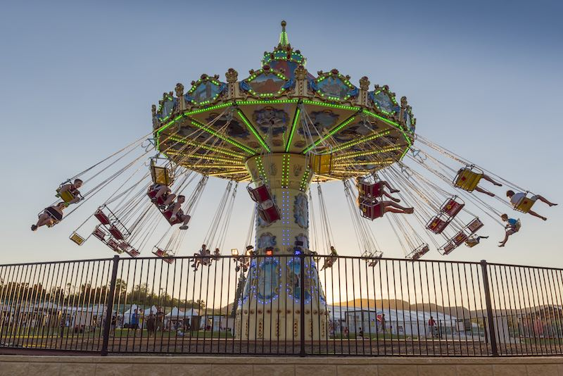 One of the fun rides at Snow Time in the Gardens. Photo by Chris Elfes