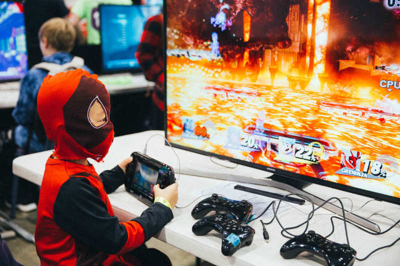 Serious Super Hero gaming at Oz Comic-Con