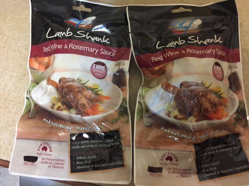 The yummy Lamb Shank Red Wine and Rosemary Sauce meals from Chef Direct by Marathon.