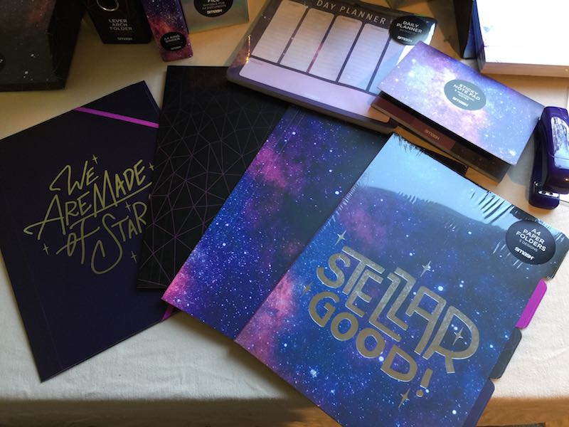 Neon Galaxy Envelope Folders and Neon Galaxy A4 Folder 5 Pack from Smash.