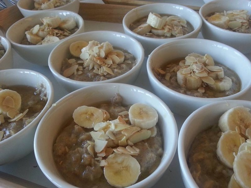 """""""Breakfast is served! """"Super"""" Banana Porridge - this contains approximately 25% more energy and a third more fibre than regular porridge just cooked with milk!""""Image from The Maggie Beer Facebook Page"""