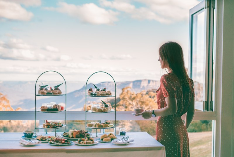 High Tea With a View at The Fairmont Resort & Spa in Leura.