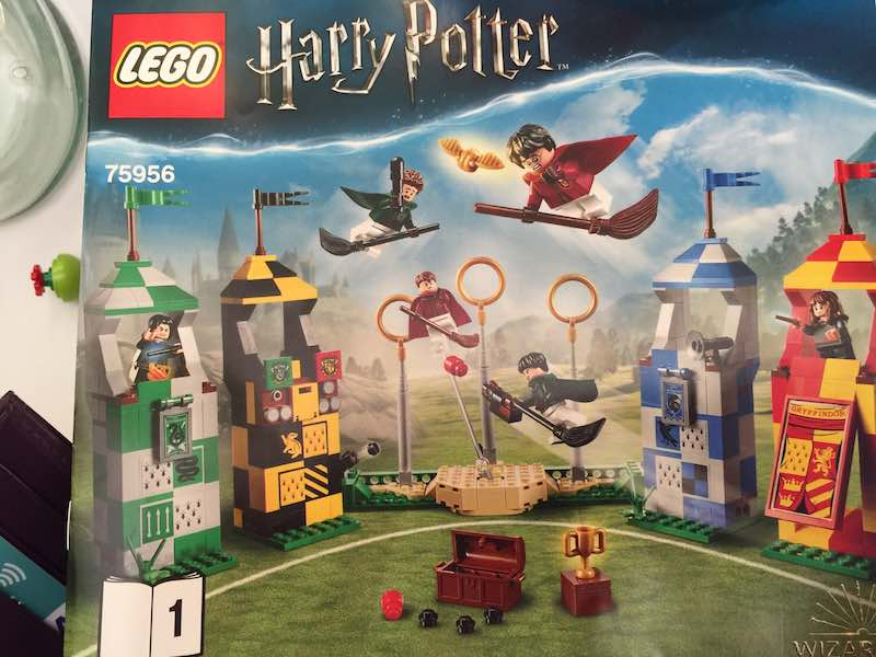 Lillian bought this Harry Potter LEGO set to share with Julia.