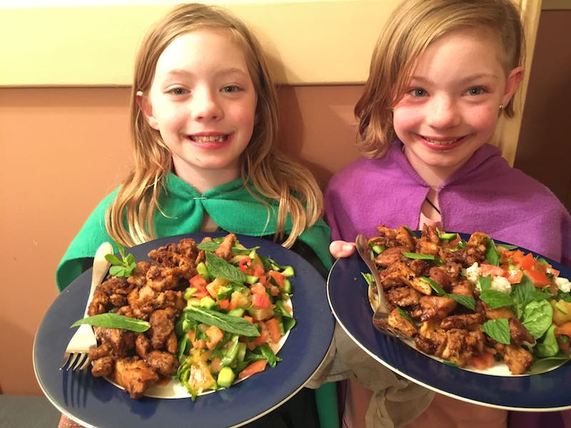 My little masterchefs helped me make Caribbean Chicken & Coconut Rice. It was so fabulous.