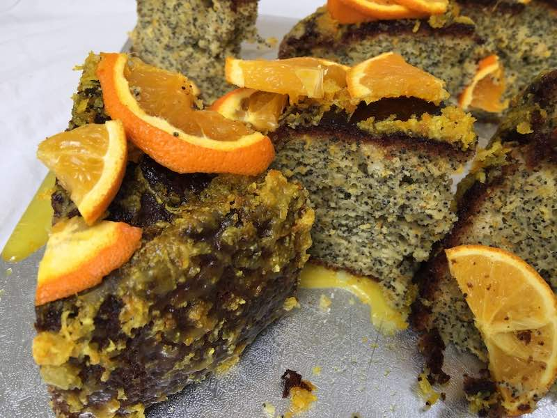 Orange & Poppy Seed Pound Cake all ready for afternoon tea... would you love a slice now?